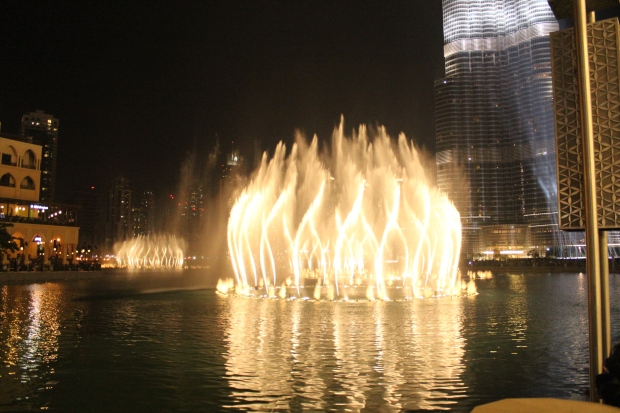 "The ""Dubai Fountain"", the biggest music triggered water feature in the world"