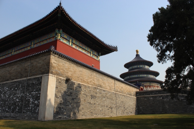 The Hall of Prayer for Good Harvests, seen from the Temple of Heaven park between the inner and the outer wall.