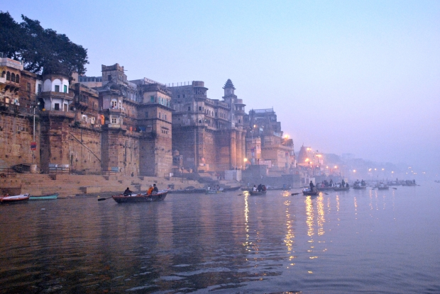 Morning mood on the river Ganges, Varanasi
