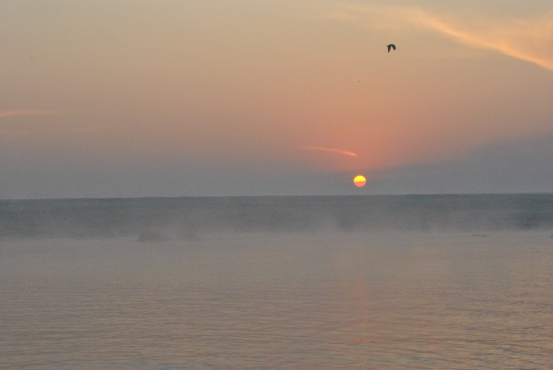 Sunrise over the Ganges in Varanasi