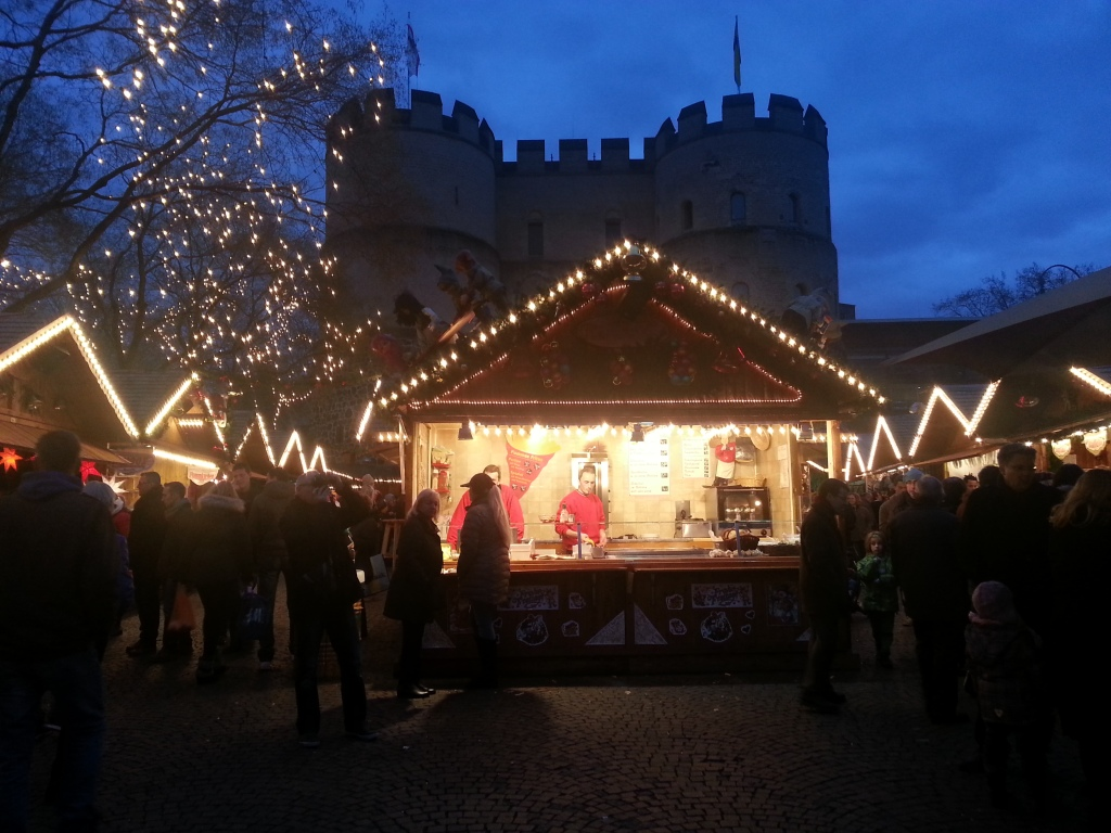 Christmas market at the Rudolf place in Cologne